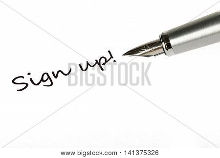 Parker Fountain Pen and Inscription