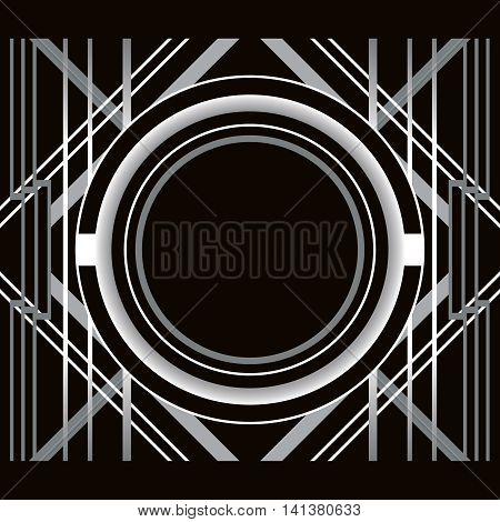 Art Deco style abstract geometric frame. Can use it for wedding invitation card, party posters, birthday postcards, add text or photo.... Vector illustration.