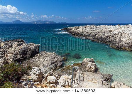 amazing view of Alaties Beach, Kefalonia, Ionian islands, Greece