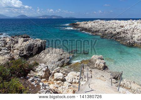 Rocks on Alaties Beach, Kefalonia, Ionian islands, Greece