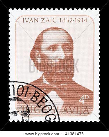 YUGOSLAVIA - CIRCA 1982 : Cancelled postage stamp printed by Yugoslavia, that shows Ivan Zajc.