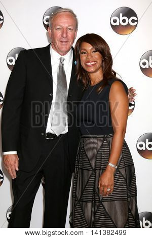LOS ANGELES - AUG 4:  Dan Richards, Channing Dungey at the ABC TCA Summer 2016 Party at the Beverly Hilton Hotel on August 4, 2016 in Beverly Hills, CA