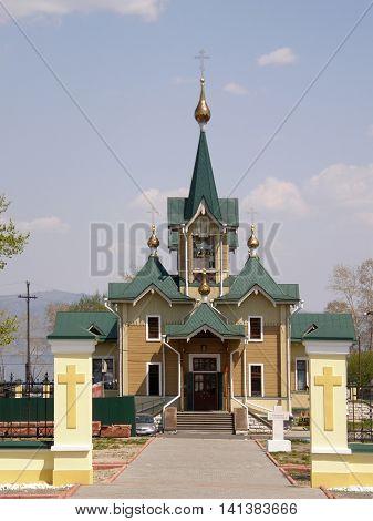 Church in Slyudyanka. Baikal. Siberia. Russia