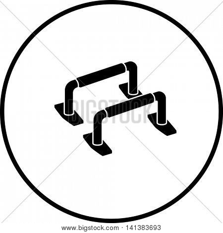 push-up bars symbol