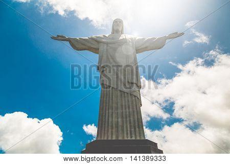 RIO DE JANEIRO - CIRCA NOV 2014: Christ the Redeemer, located on top of Corcovado, in Rio de Janeiro, Brazil