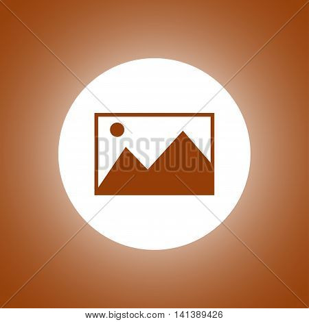 Photo Picture Web Icon In Flat Style