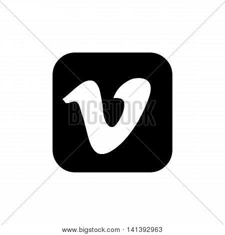social media symbols, icons isolated on white background