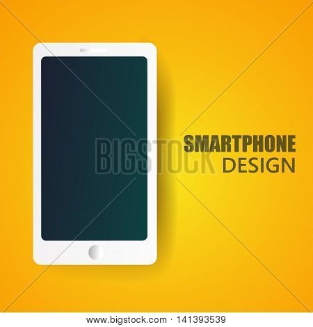 white realistic  vector smartphone illustration eps 10