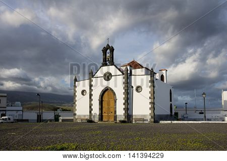 Old church at Punta de Abona - little town on the coast of Tenerife Canary island