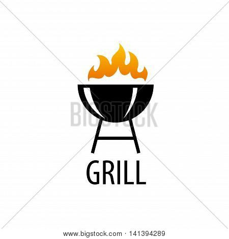 logo design template for a barbecue. Vector illustration