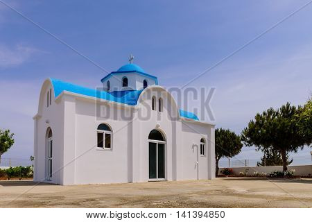 Traditional Greek Church, Kos island, Dodecanese, Greece.