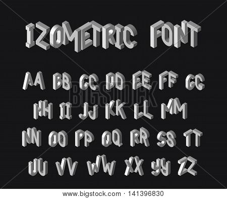Vector Illustration of 3D Alphabet for Design, Website, Background, Banner. White Isolated Letters. Element Template for Your frase, text, adverts.