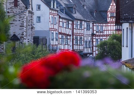 Old timber frame houses in Monreal Rhineland-Palatinate Germany