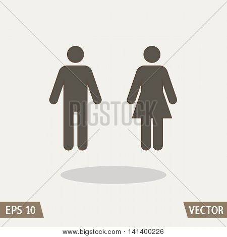 Male and Female Man and Woman icon sign vector illustration for web restroom