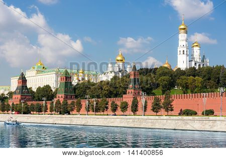 Palace And Cathedral In Moscow Kremlin