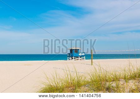 Lifeguard Tower in Venice Beach Florida, summer landscape