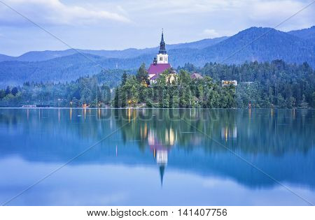 Church Of The Assumption On Bled Lake, Slovenia
