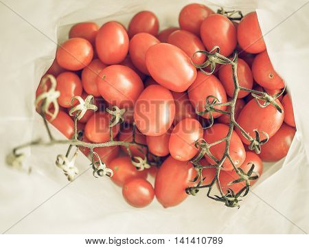 Red Tomato Vegetables Vintage Desaturated