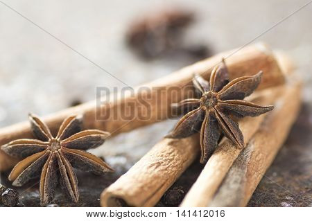 Spices and herbs. Food and cuisine ingredients.