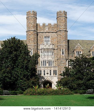 ancient building in Duke University NC for design