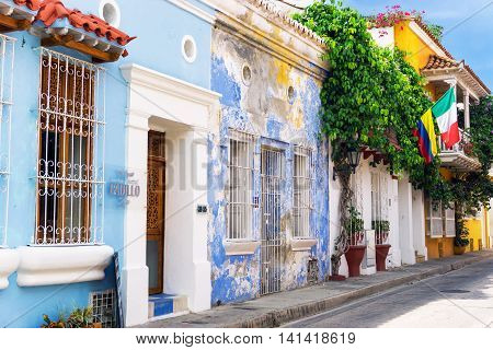 Colonial Architecture And Flags