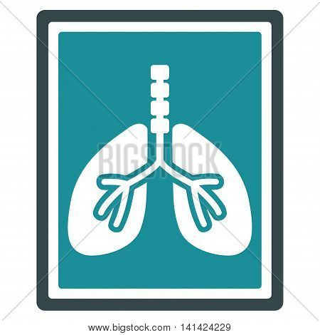 Lungs X-Ray Photo vector icon. Style is bicolor flat symbol, soft blue colors, rounded angles, white background.