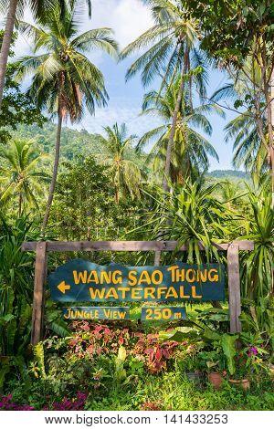 Wang Sao Thong waterfall Koh Samui Thailand