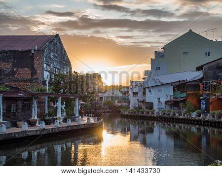 Malacca, Malaysia - February 29: Early Morning With Sunrise Alon