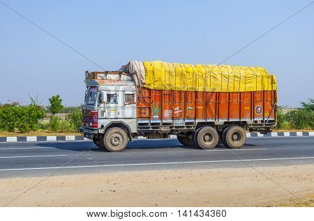 Cargo Transport With Tractor On Country Road