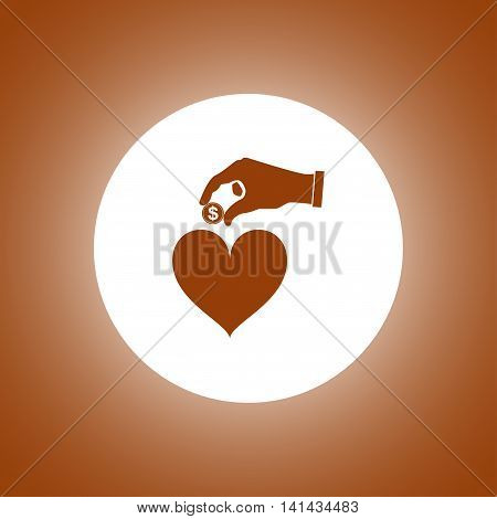 Give Alms, Web Icon. Vector Design