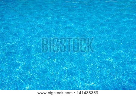 Swimming Pool Blue Water Surface Texture