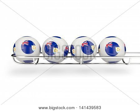 Flag Of Anguilla On Lottery Balls