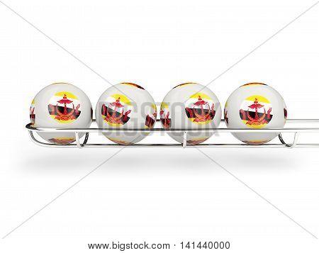 Flag Of Brunei On Lottery Balls