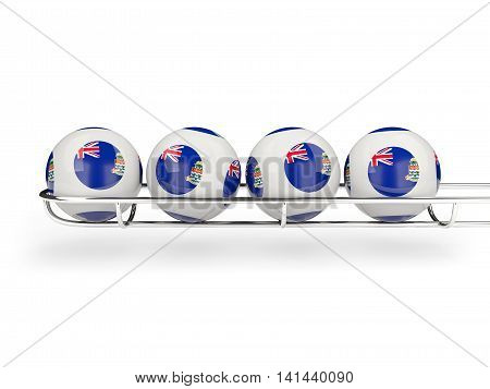 Flag Of Cayman Islands On Lottery Balls