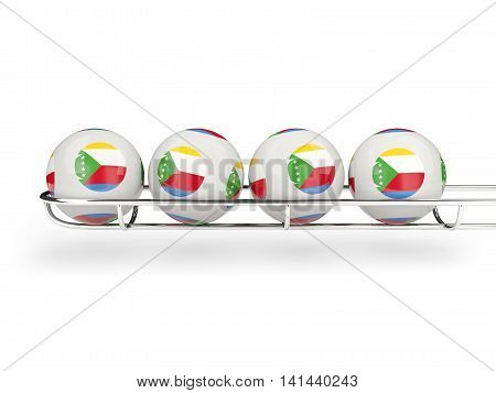 Flag Of Comoros On Lottery Balls