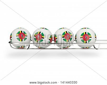Flag Of Dominica On Lottery Balls