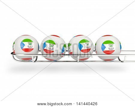 Flag Of Equatorial Guinea On Lottery Balls