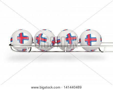 Flag Of Faroe Islands On Lottery Balls