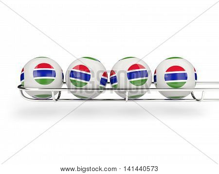 Flag Of Gambia On Lottery Balls
