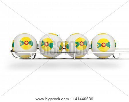 Flag Of Grenada On Lottery Balls