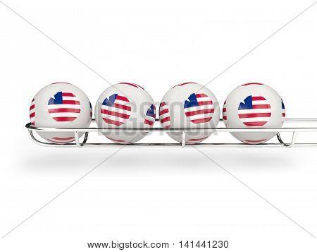 Flag Of Liberia On Lottery Balls