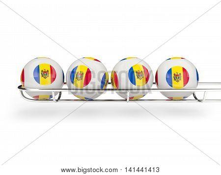 Flag Of Moldova On Lottery Balls