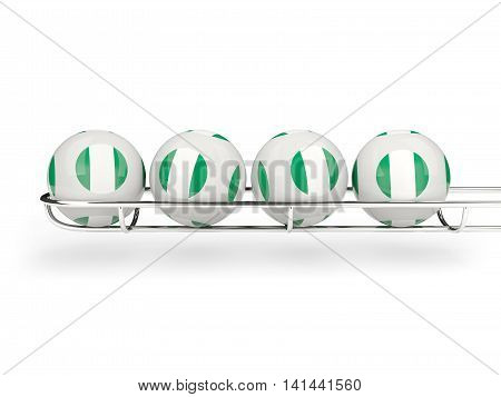 Flag Of Nigeria On Lottery Balls