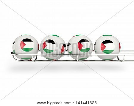 Flag Of Palestinian Territory On Lottery Balls