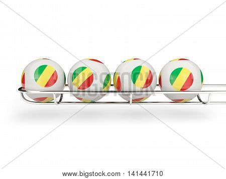 Flag Of Republic Of The Congo On Lottery Balls
