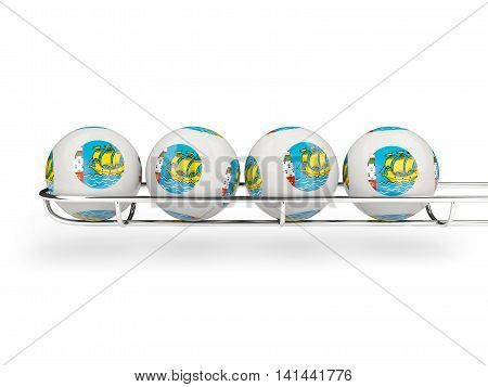 Flag Of Saint Pierre And Miquelon On Lottery Balls