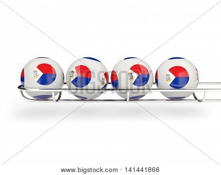 Flag Of Sint Maarten On Lottery Balls
