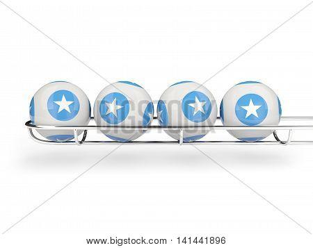 Flag Of Somalia On Lottery Balls