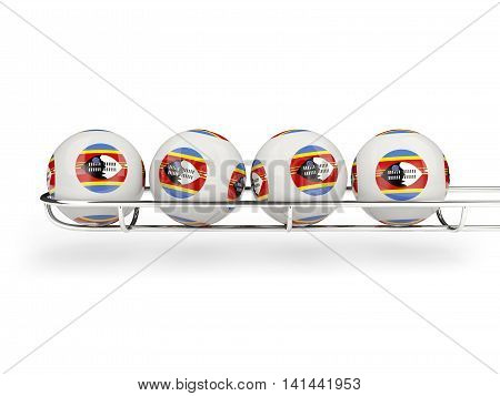 Flag Of Swaziland On Lottery Balls