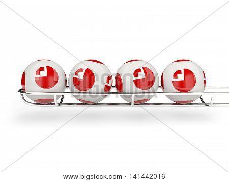 Flag Of Tonga On Lottery Balls